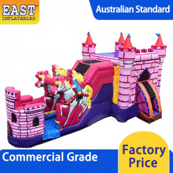 Princess Carriage With Horses Jumping Castle