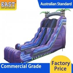 Purple Marble Dual Lane Inflatable Dry Slide