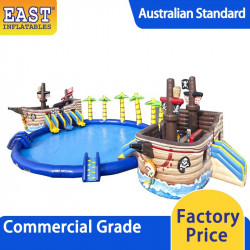 Pirate Ship Inflatable Water Park