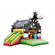 Cow Inflatable Bouncy Castle With Slide