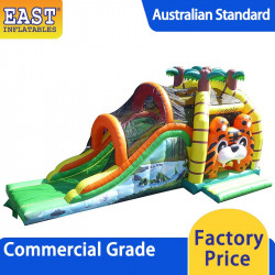 Jungle Bouncy Castle With Slide