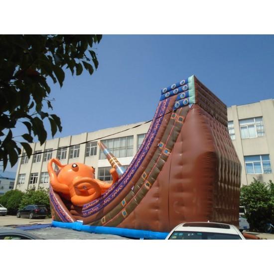 Kraken Inflatable Pirate Ship Slide